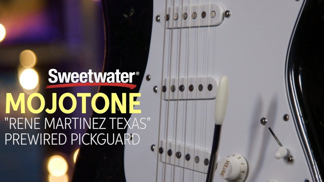 Mojo Tone `Rene Martinez Texas` Strat Pickup Prewired Pickguard Review