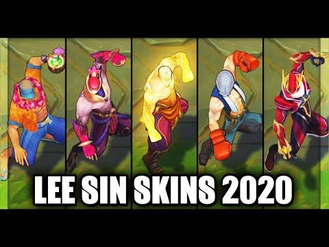 All Lee Sin Skins Spotlight 2020 (League of Legends)