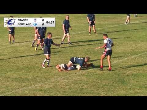FRANCE Vs. SCOTLAND - 1st Half - Rugby League European Championship U19