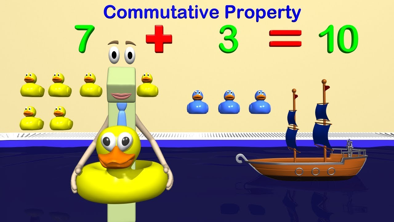 small resolution of Addition and Subtraction Strategies 1st Grade Math - Commutative and  Associative Property - YouTube