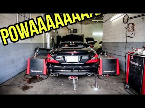 Here's How Much Power My $8,900 SL55 AMG Actually Made On A Dyno