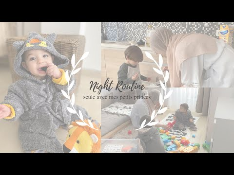 ❥ Night Routine seule avec les enfants ╳ Routine, organisation & repas