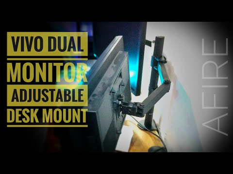 vivo-dual-monitor-desk-mount-stand-review