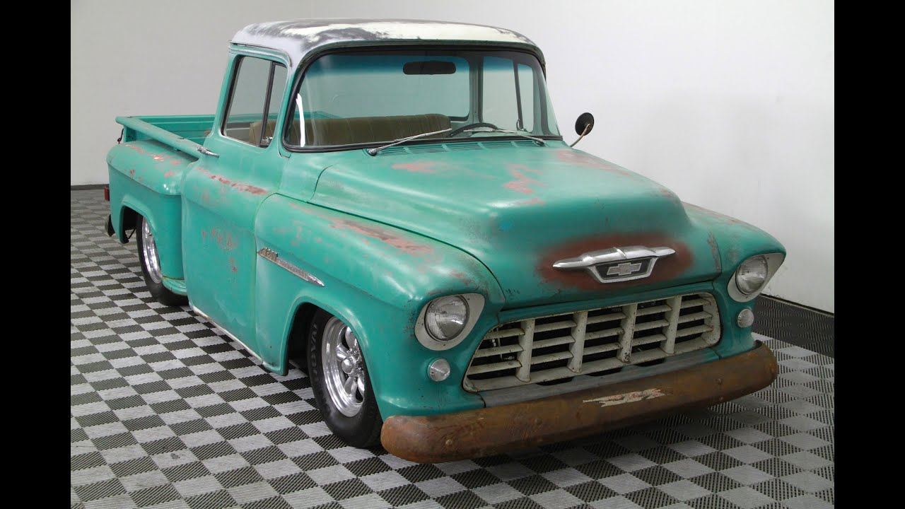 1955 chevrolet 3200 pickup truck for sale youtube. Black Bedroom Furniture Sets. Home Design Ideas