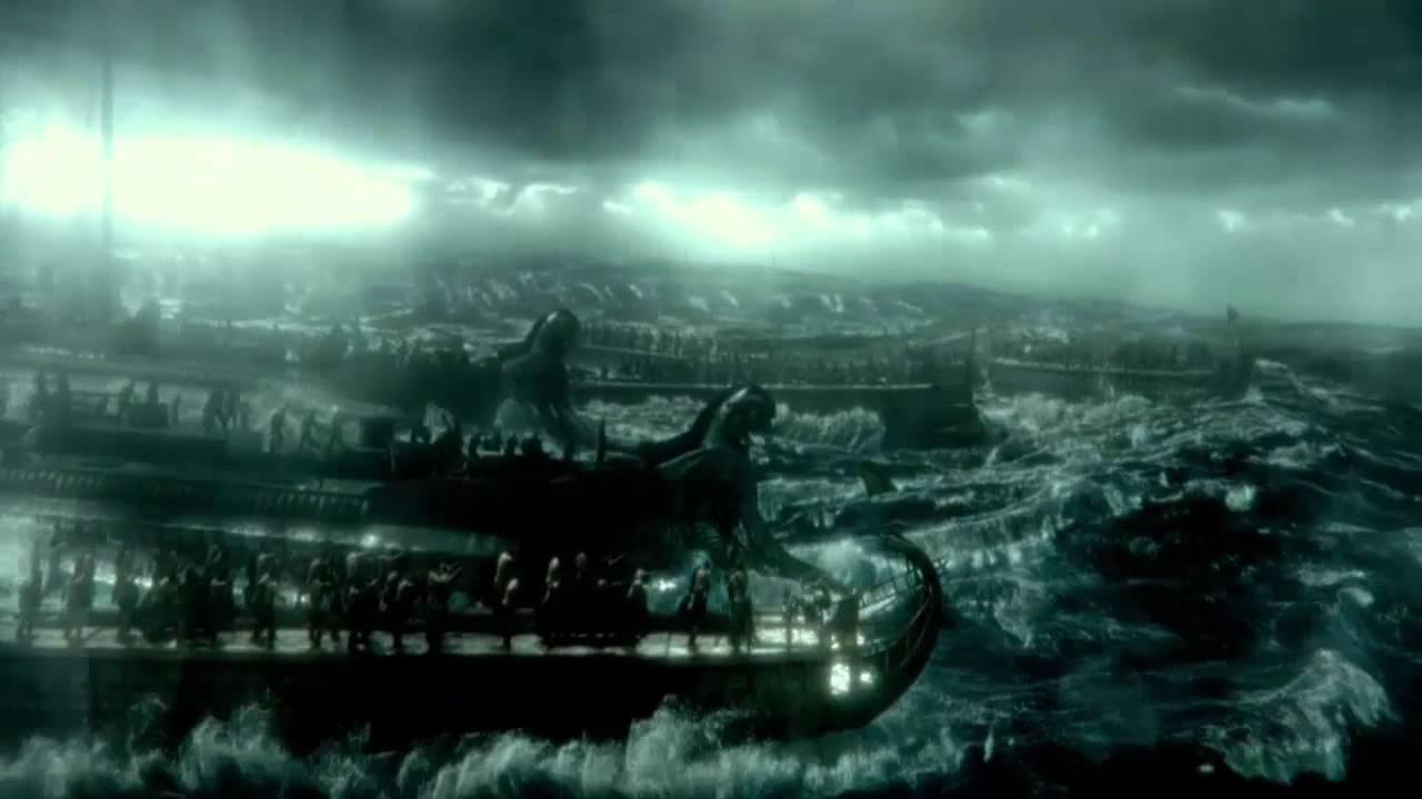 Download 300 Rise Of An Empire, 1st Persian Naval Assault, Persian fleet vs Greek Fleet (battle scene)