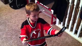 Evan's amazing Knee Hockey Rink