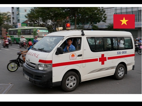 Ho Chi Minh City (Vietnam) Ambulance Responding With Lights & Siren