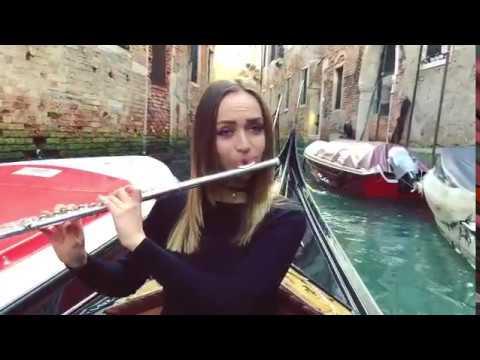 G. Briccialdi - Carnival of Venice (performed on a gondola IN Venice!)