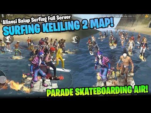 LAUTAN SKATEBOARDING! PARADE ALIANSI SURFING FULLSERVER - Garena Free Fire