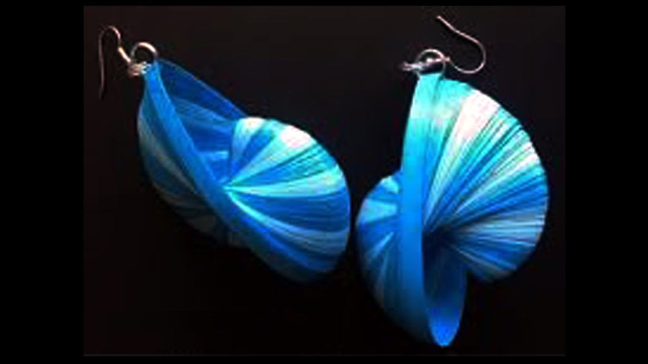 Papercraft New Model weaving quilling earrings - how to make quilling paper earrings