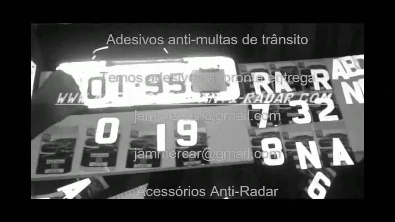 Adesivos Anti Radar Carros Pare Com As Multas De Transito Video