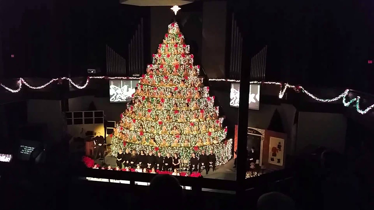 Living Christmas Tree.The First Baptist Church Living Christmas Tree