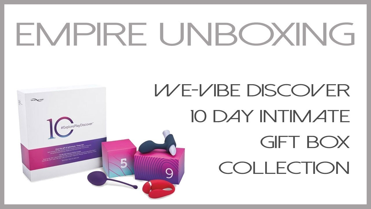 WeVibe Discover 10 Day Intimate Gift Box- Empire Unboxing