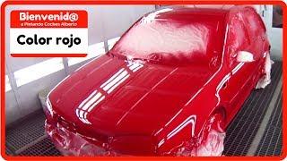 como pintar un auto rojo