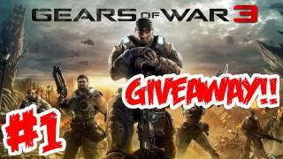 Gears of War 3 Walkthrough Part 1 [ Prologue + Act 1 - Chapter 1 ] HD - GIVEAWAY!! - (Gameplay)
