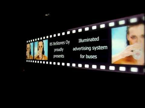 Illuminated bus advertising.mov