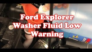 How to reset BMW 3 serie F30 washer fluid error warning light. Years 2012 to 2018