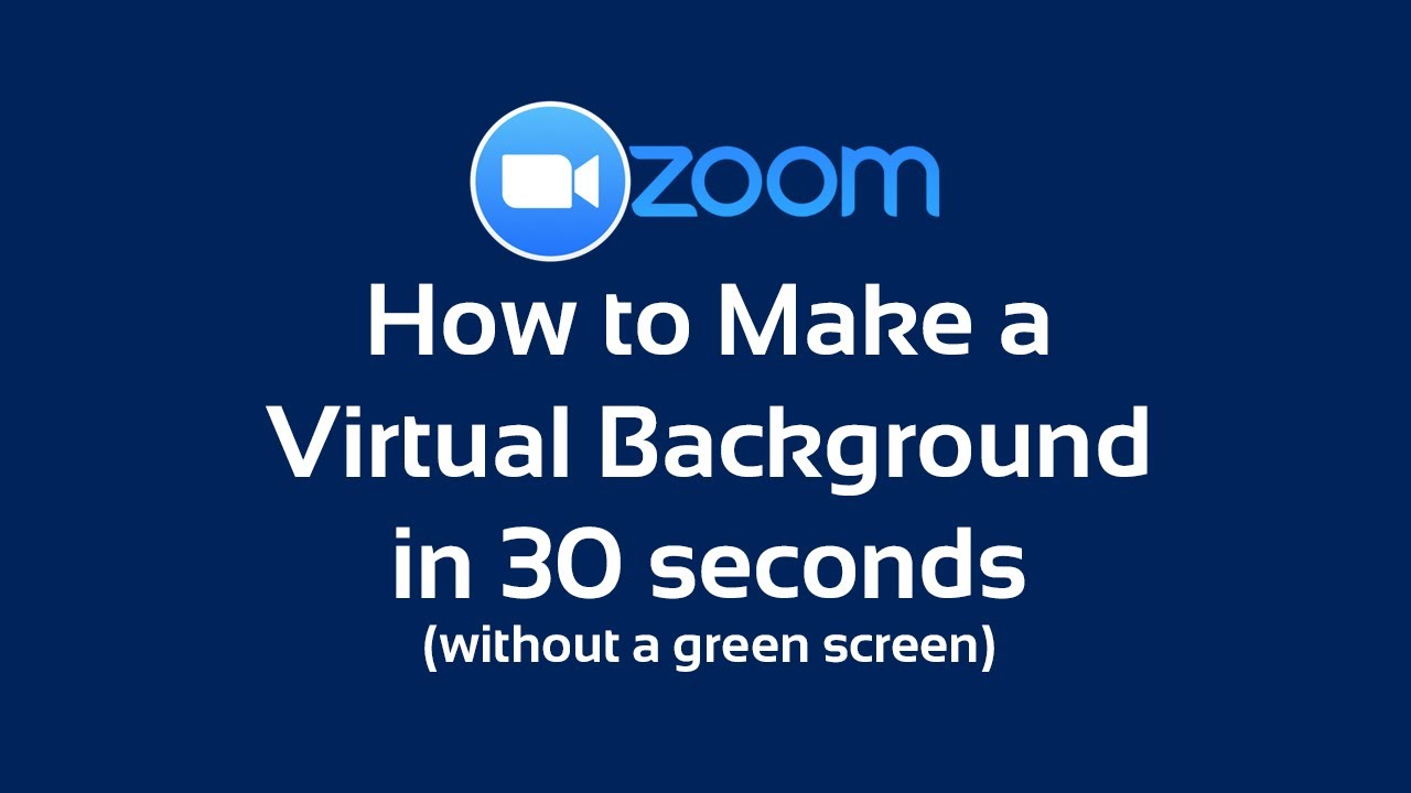 How To Make Zoom Background