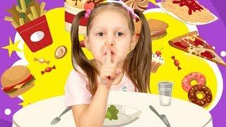 Амелька и Папа НА ДИЕТЕ! Почему мама не разрешает кушать вкусняшки? Что мы будем теперь кушать?