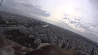 Париж с высоты птичьего полета с Sony Action Cam Mini