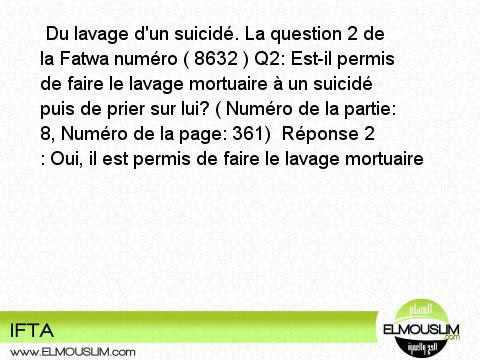 Q2 Est Il Permis De Faire Le Lavage Mortuaire A Un Suicide Puis De