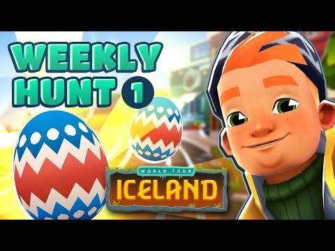 � Subway Surfers Weekly Hunt - Collecting Easter Eggs in Iceland (Week 1)