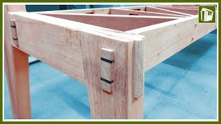 Holzverbindungen OHNE Schrauben | Der gekeilte Zapfen | Anleitung