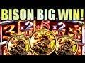 ★BISON BIG WIN!!★ BISON RUMBLE RUMBLE $5 MAX BET! Slot Machine Bonus (Ainsworth)