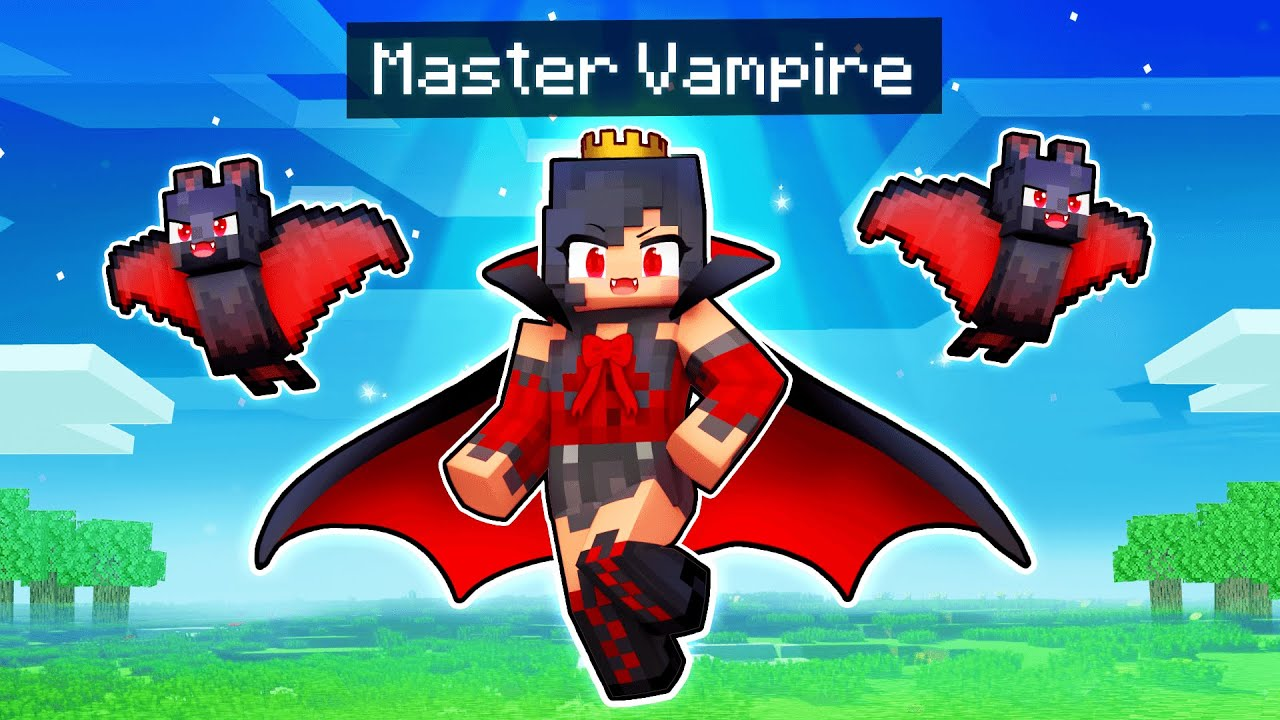 Playing Minecraft As The MASTER Vampire!