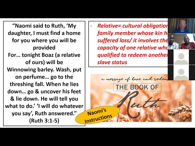 Bible Study on the Book of Ruth, session 3