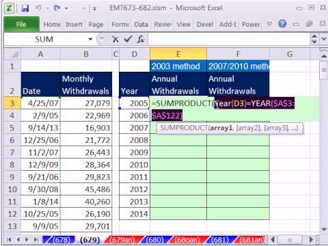 how to change quarterly data to yearly data in excel