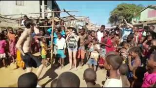 Dancing children of Madagascar and Alexandr