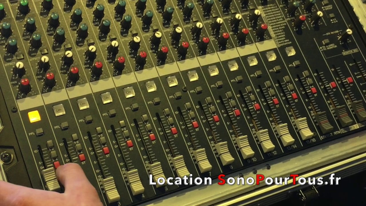 Location Table Mixage Demostration Table Mixage 16 Voies Mg166cx Disponible En Location