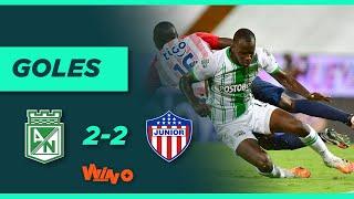 Nacional vs Junior (2-2) Liga BetPlay Dimayor 2020   Fecha 13