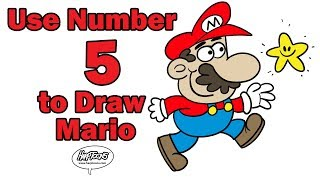 Use The Number 5 to Draw Mario