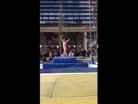 Harriet Littlehales and Elisha 9 year old aerial hoop
