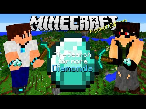 Minecraft Pocket Edition (The Search for more Diamonds) PT. 3