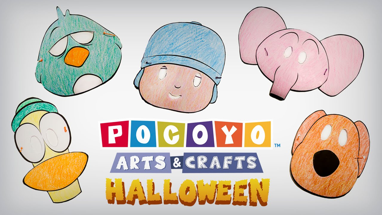 Youtube Art And Craft: Pocoyó Arts & Crafts: ¡Máscaras De Halloween! [ep. 4
