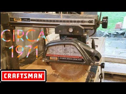 Craftsman Radial Arm Saw Circa 1971