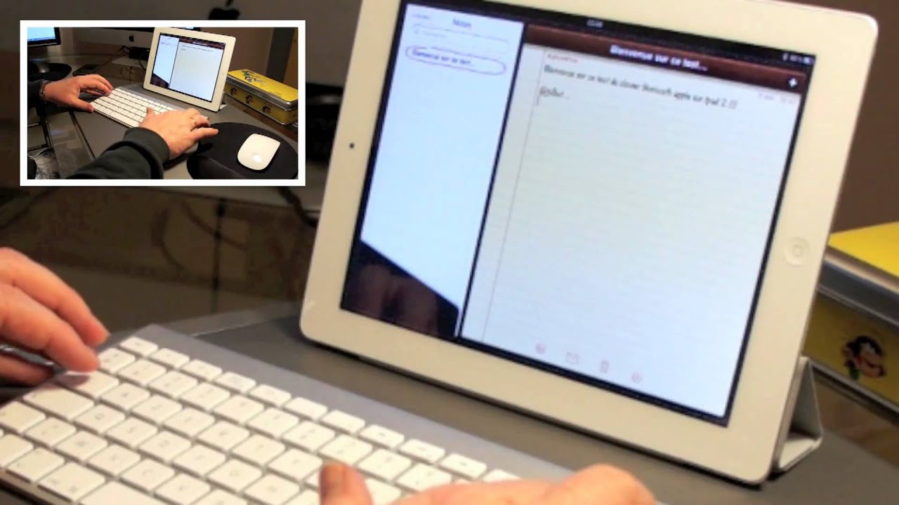 test du clavier apple bluetooth sur ipad 2 youtube. Black Bedroom Furniture Sets. Home Design Ideas