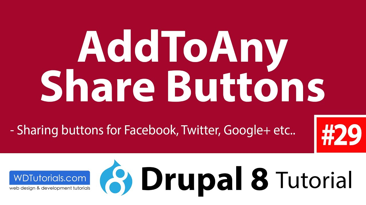Drupal 8 - How To Add ShareThis Buttons With AddToAny Module