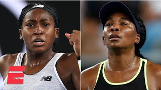 Coco Gauff beats Venus Williams in first round | 2020 Australian Open Highlights