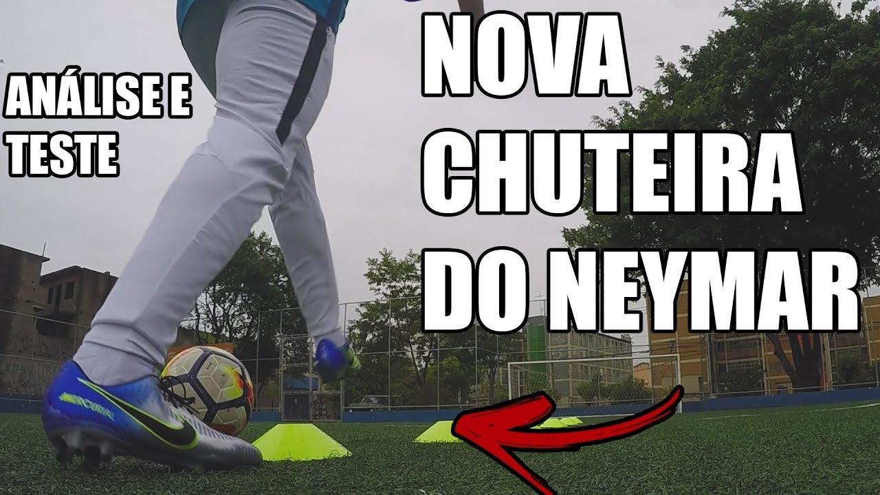 NOVA CHUTEIRA DO NEYMAR - PURO FENÔMENO - ANÁLISE E TESTE - FOOTZ ... b8e7c8187b0f0