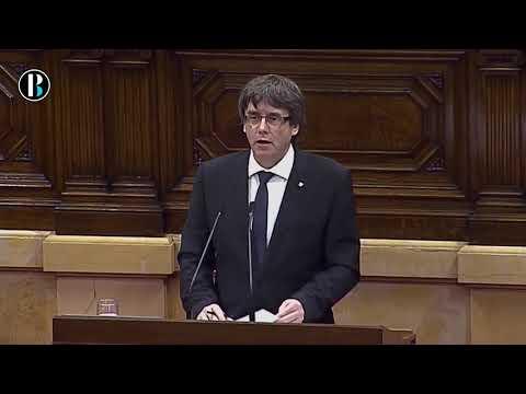 Puigdemont declara a Cataluña como república independiente