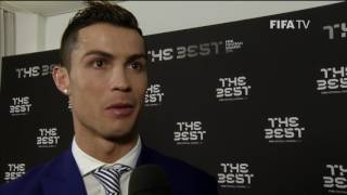 CRISTIANO RONALDO - Post Award Reaction - THE BEST FIFA FOOTBALL AWARDS 2016