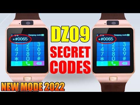DZ09 Smartwatch secret codes - YouTube