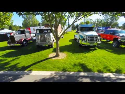 2015 Great Salt Lake Truck Show Aerial Tribute to Trucks
