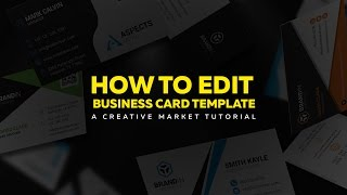 Gambar cover How to Edit Business Card Template - Creative Market