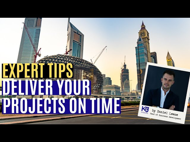 KOJI's Top 5 Tips in Delivering Projects on Time