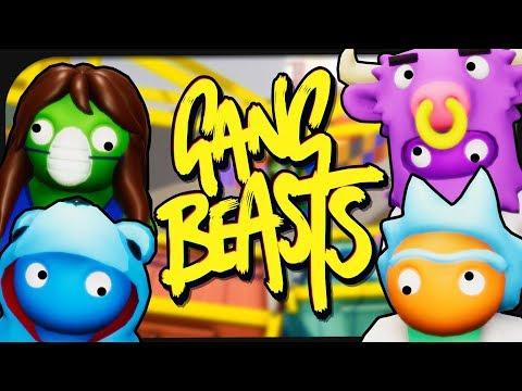 4 YouTuber verprügeln sich gegenseitig in Gang Beasts! ☆ Gang Beasts